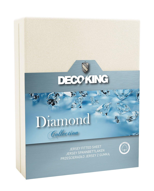 Cearceaf pentru saltea cu elastic Diamond Ecru
