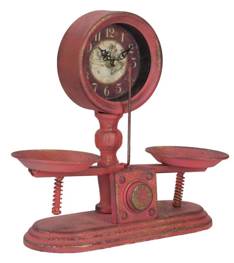 Ceas de masa Balance Rosu 29 x 26 cm