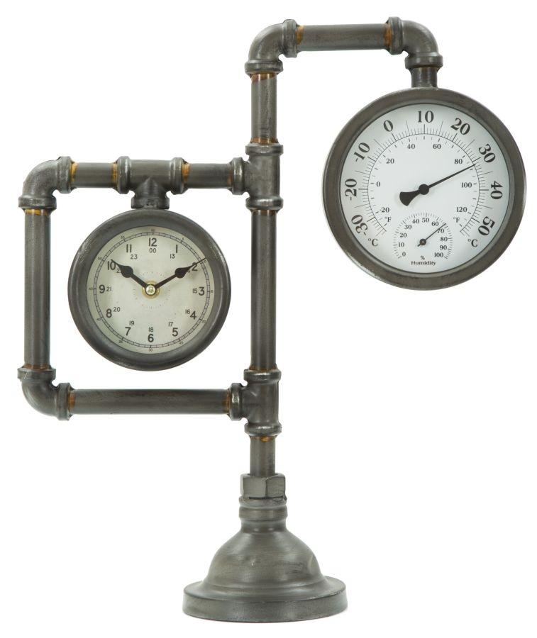 Ceas de masa Industrial Double Grey l37xA125xH435 cm