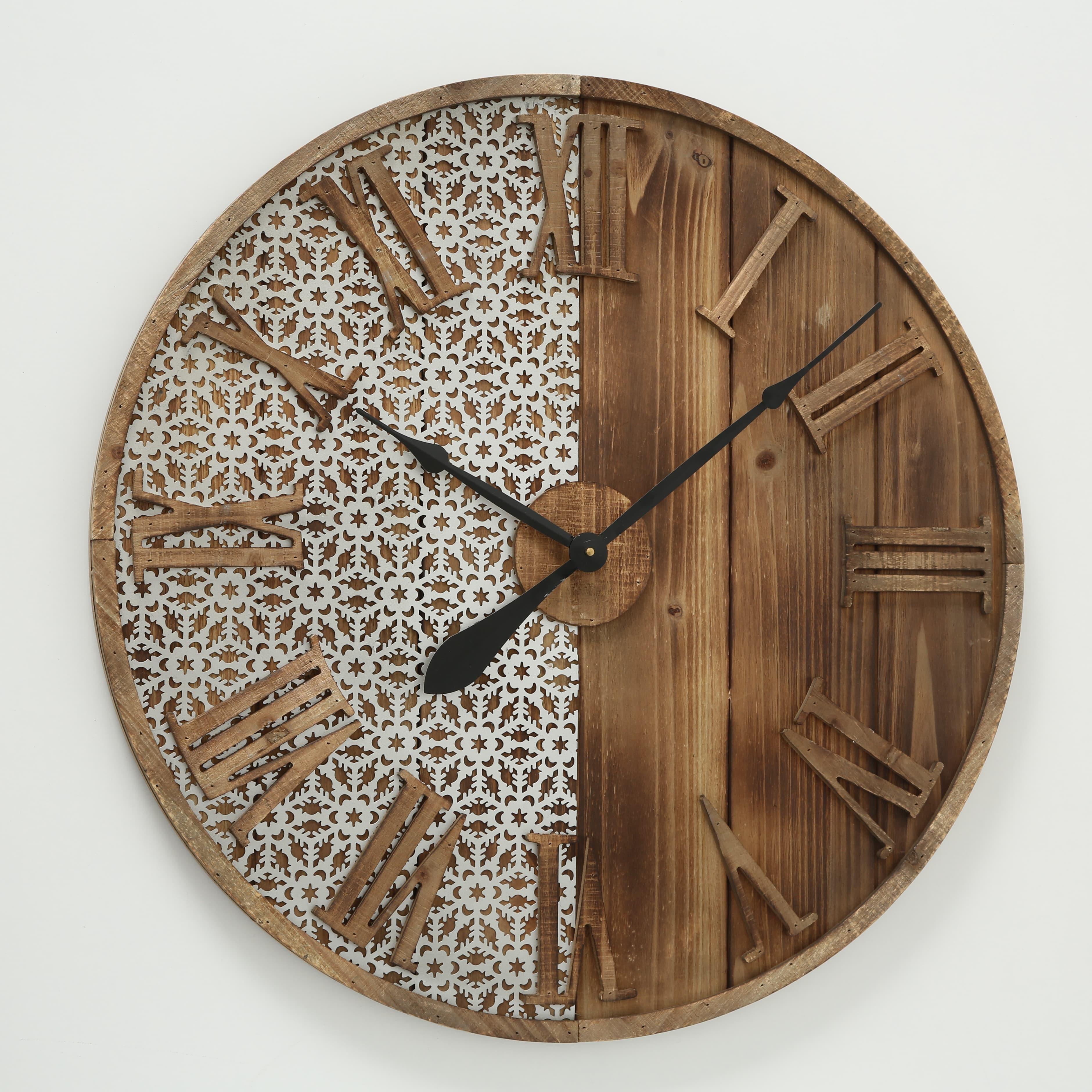 Ceas de perete Abbey Natural, Ø70 cm poza