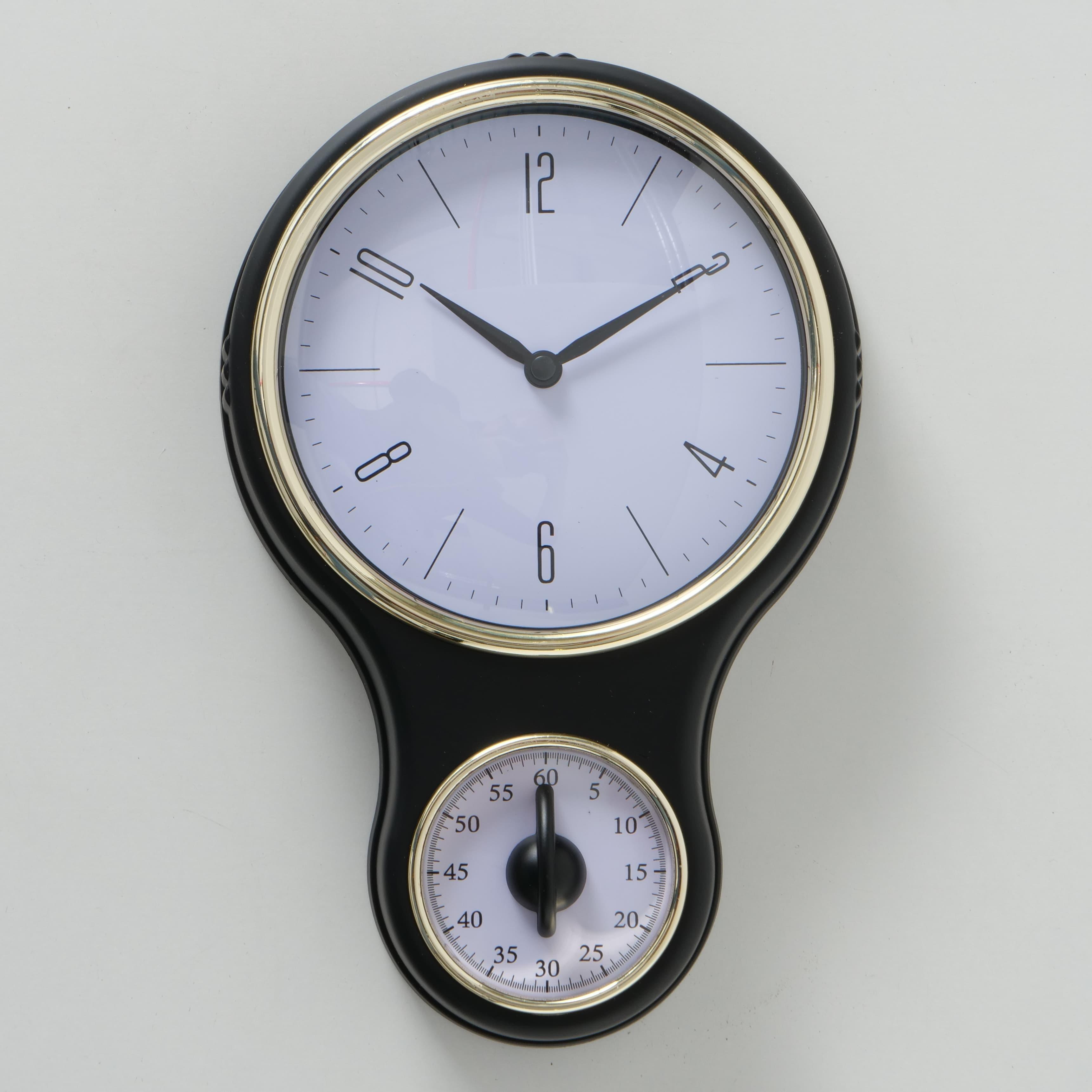 Ceas de perete Bolsa Alb / Negru, L19xl30 cm poza