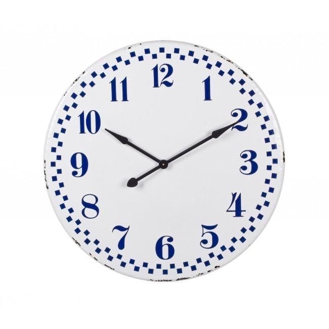 Ceas de perete Curt Alb / Albastru Ø92 cm