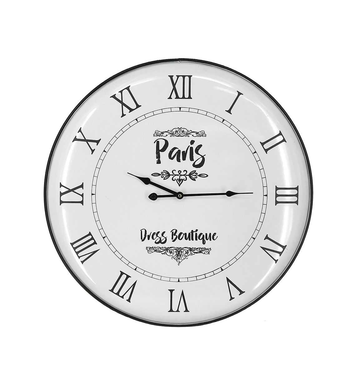 Ceas de perete Gales Boutique Alb / Negru, Ø62 cm