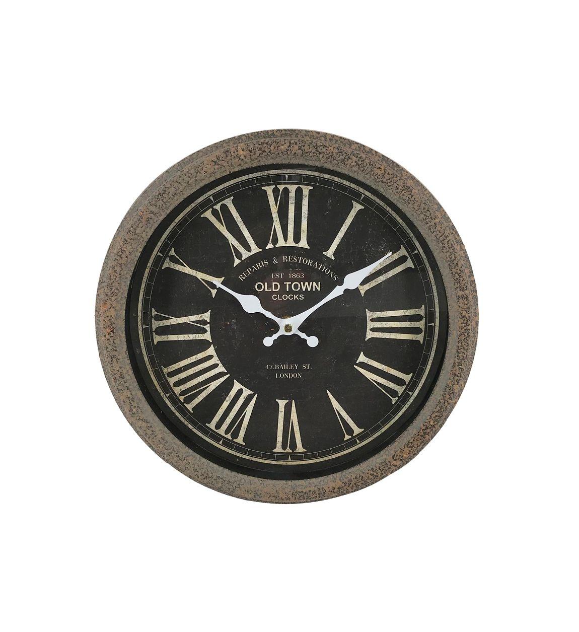 Ceas de perete Gales Sphere Negru, Ø30 cm