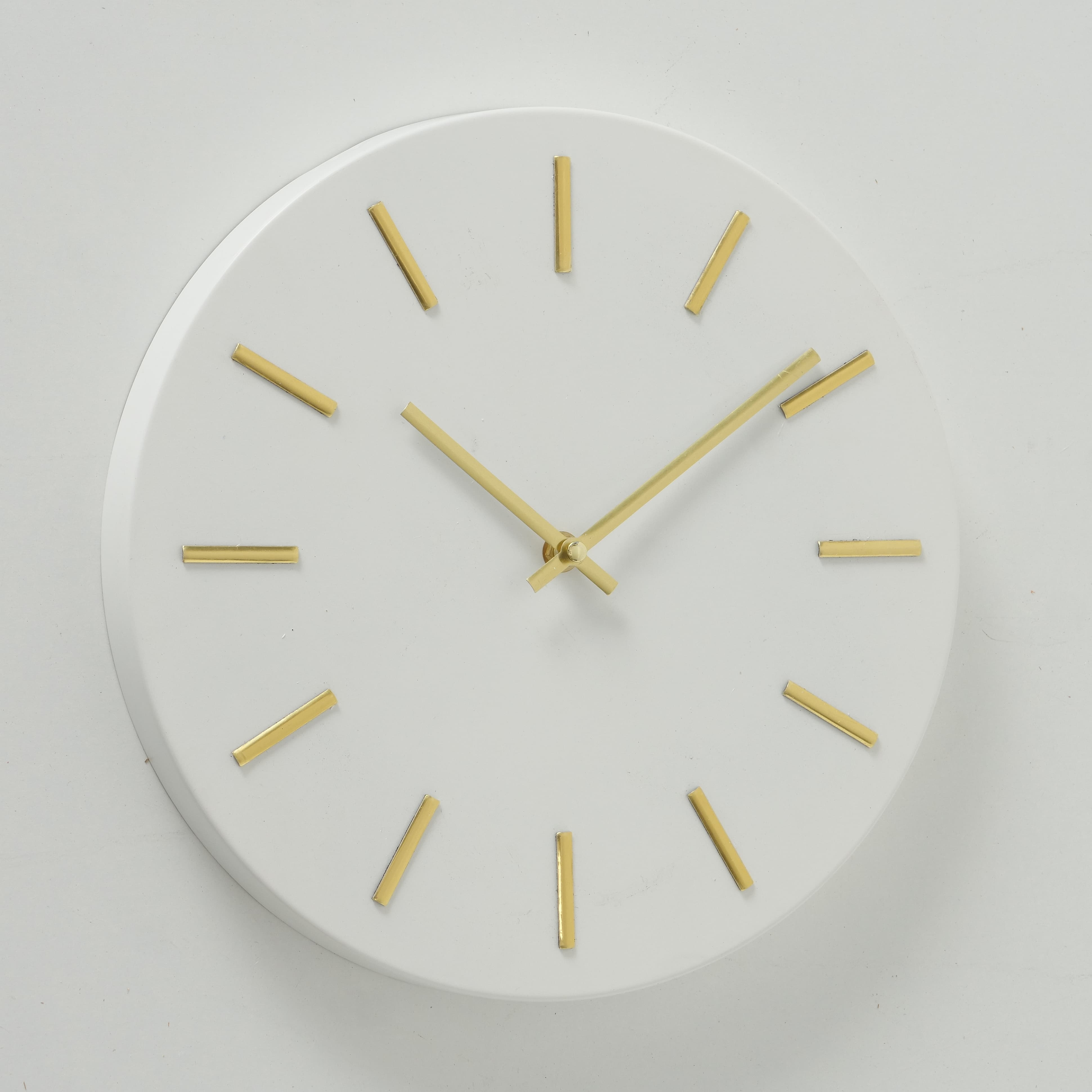 Ceas de perete Mareike Alb / Auriu, Ø30 cm poza