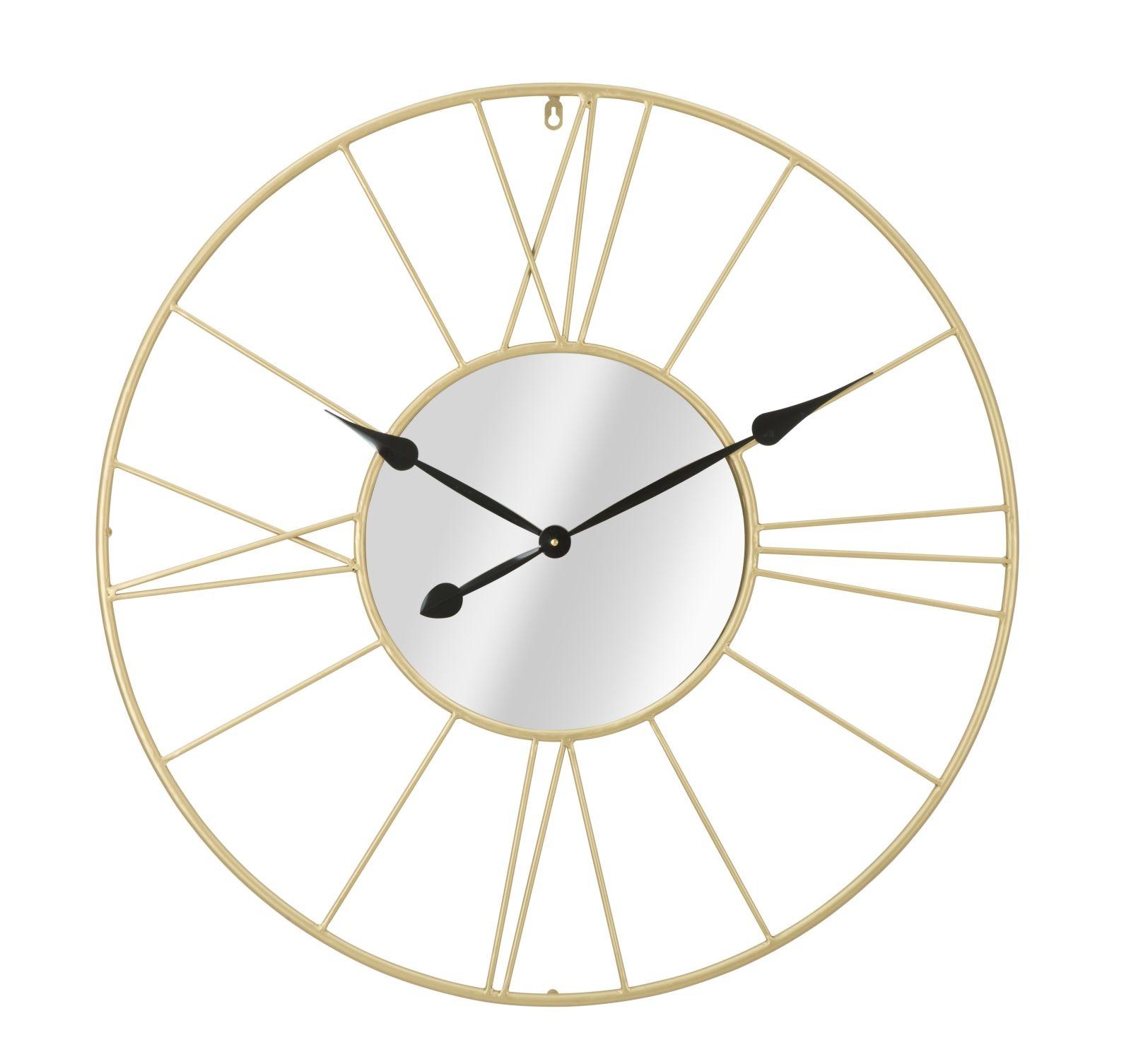 Ceas de perete Mirror Auriu Ø 80 cm