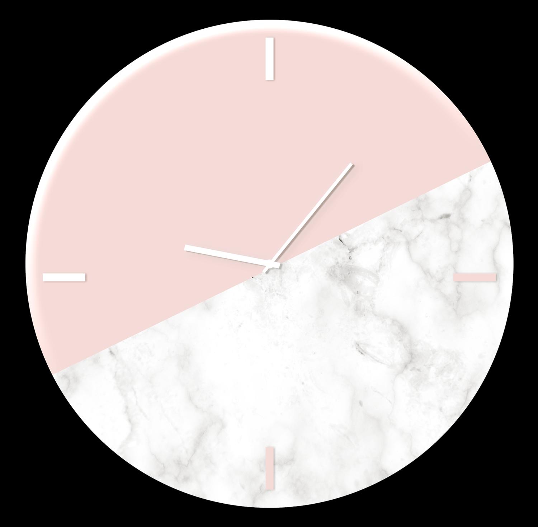 Ceas de perete Pink Marble GC011 O 30 cm