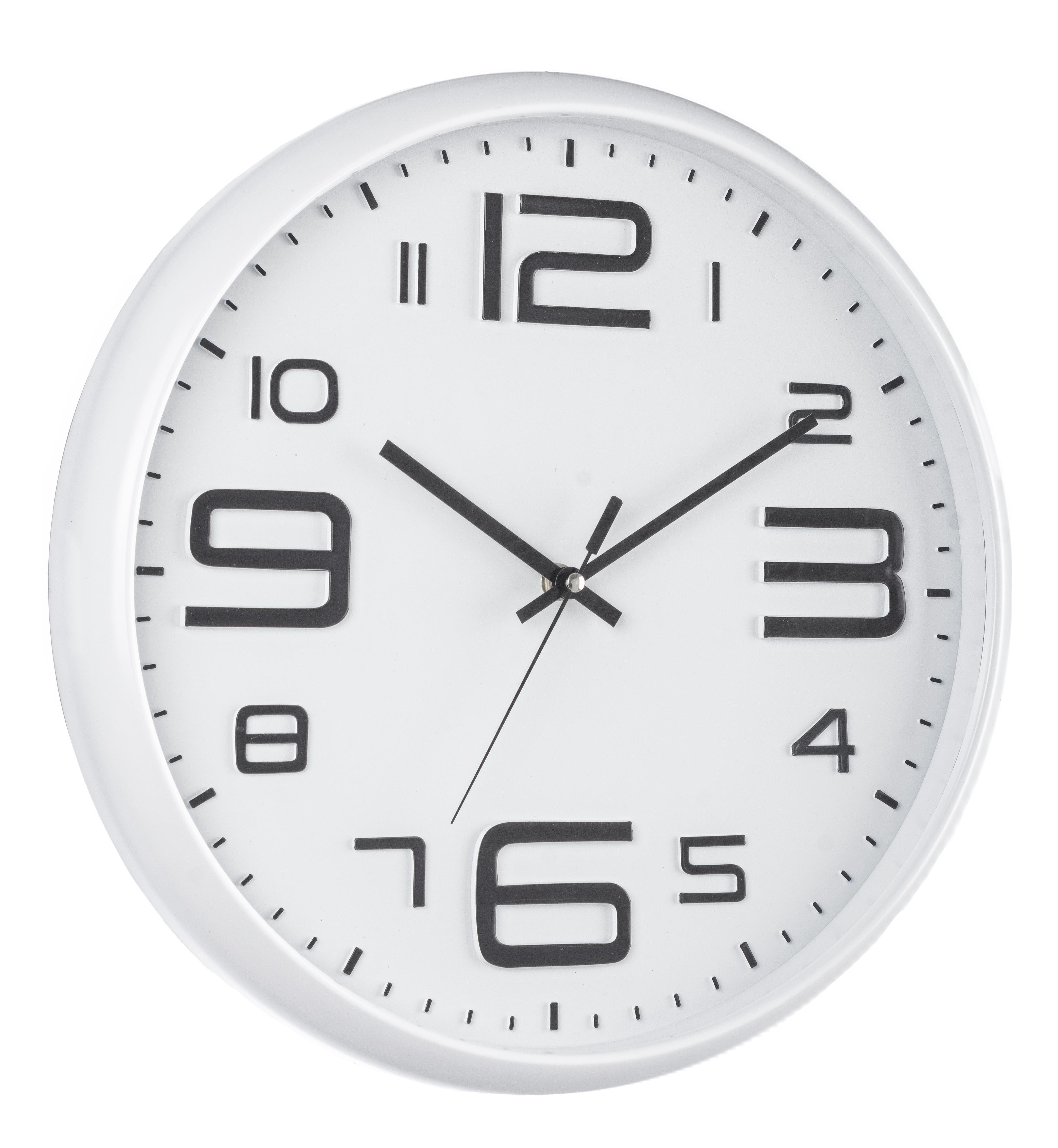 Ceas de perete Salvador Alb, Ø38 cm