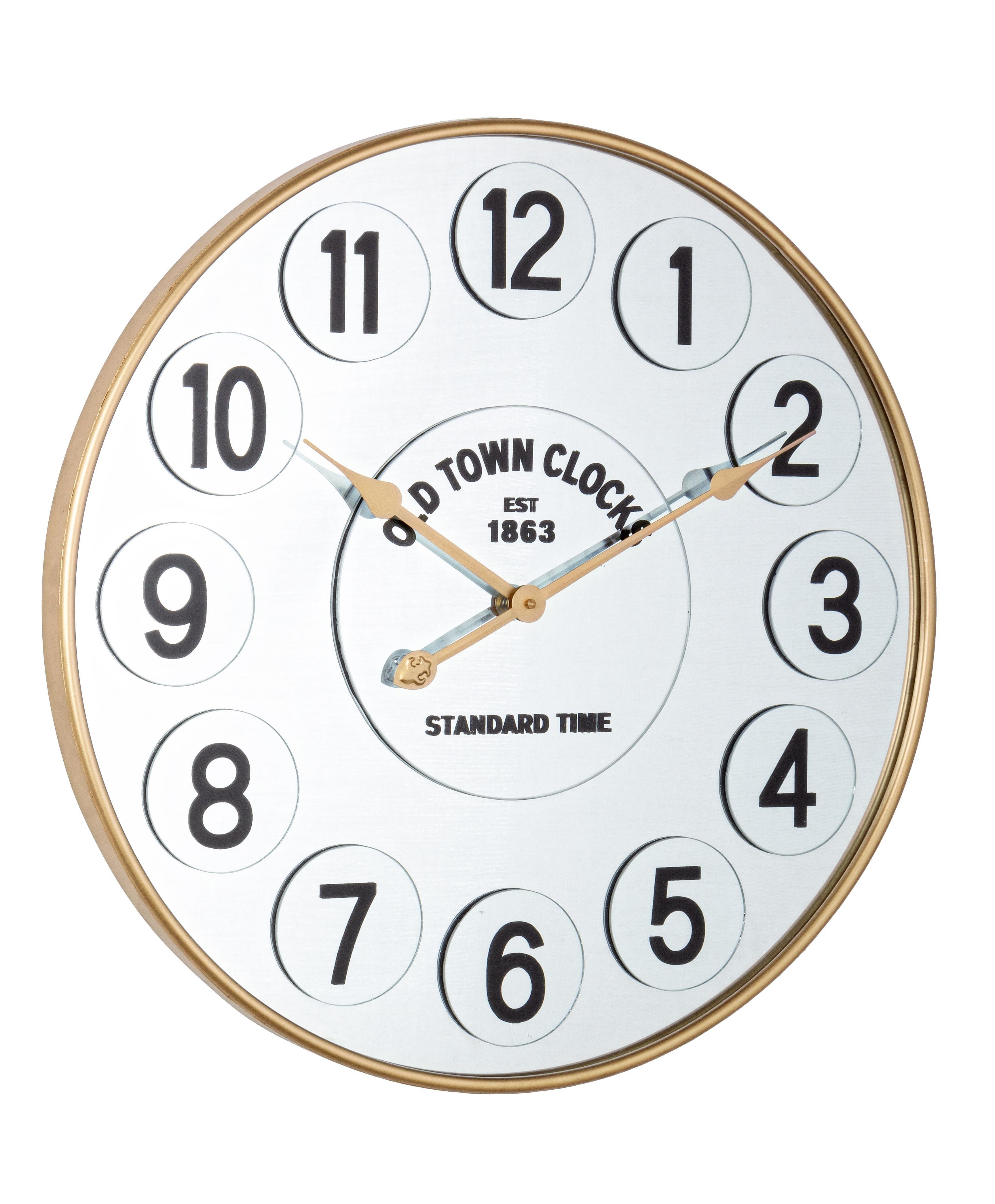 Ceas de perete Ticking Q44 Auriu, Ø60 cm poza