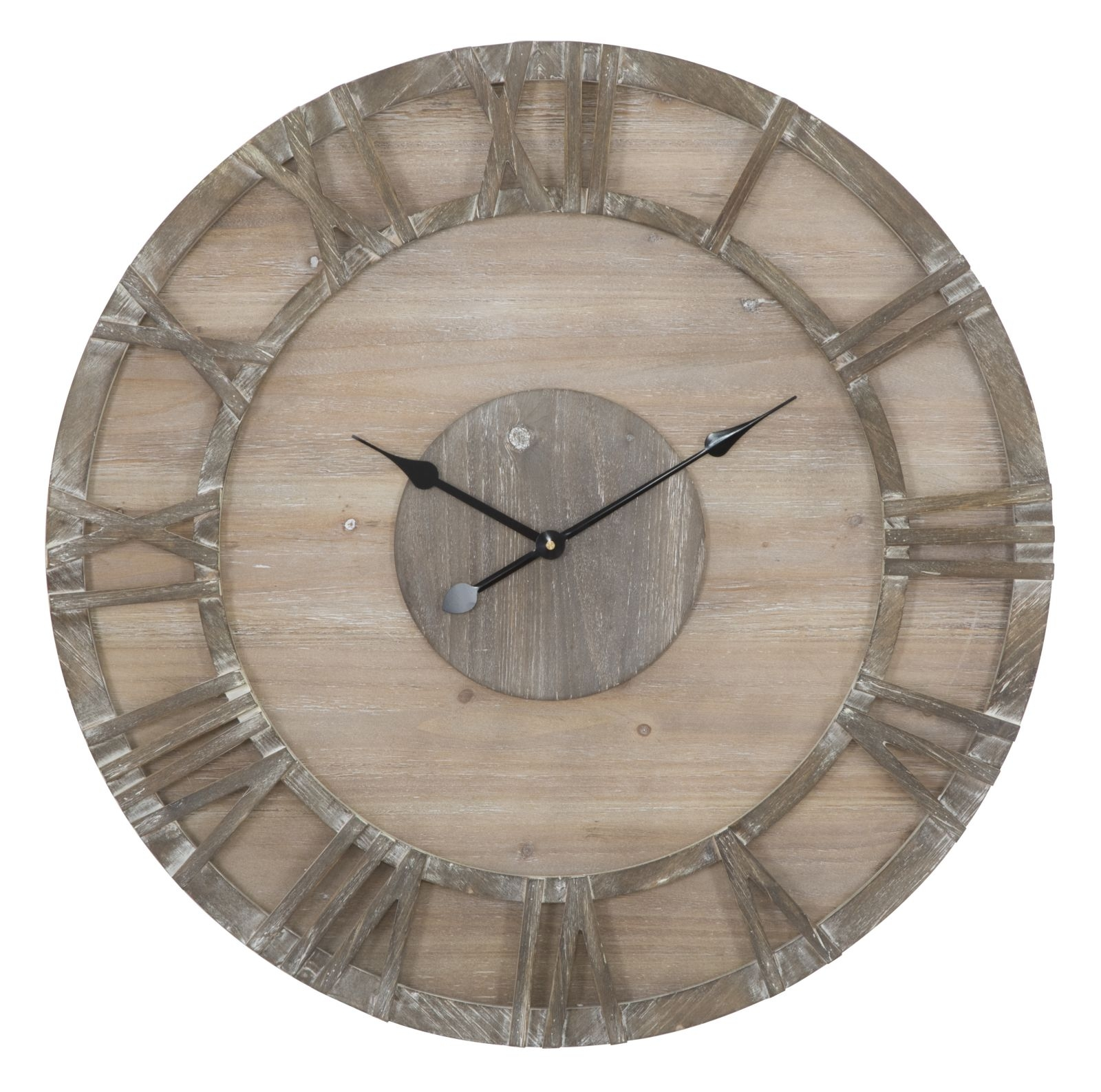 Ceas de perete Woody Natural Ø80 cm