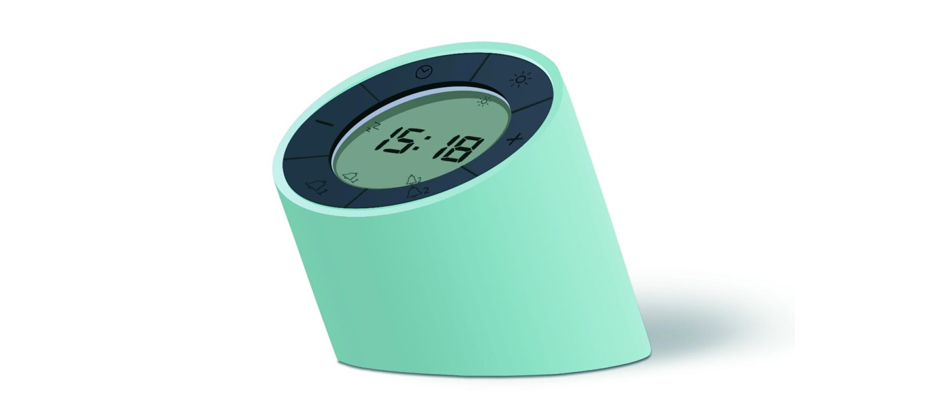 Ceas inteligent Edge Light Alarm Clock Green imagine