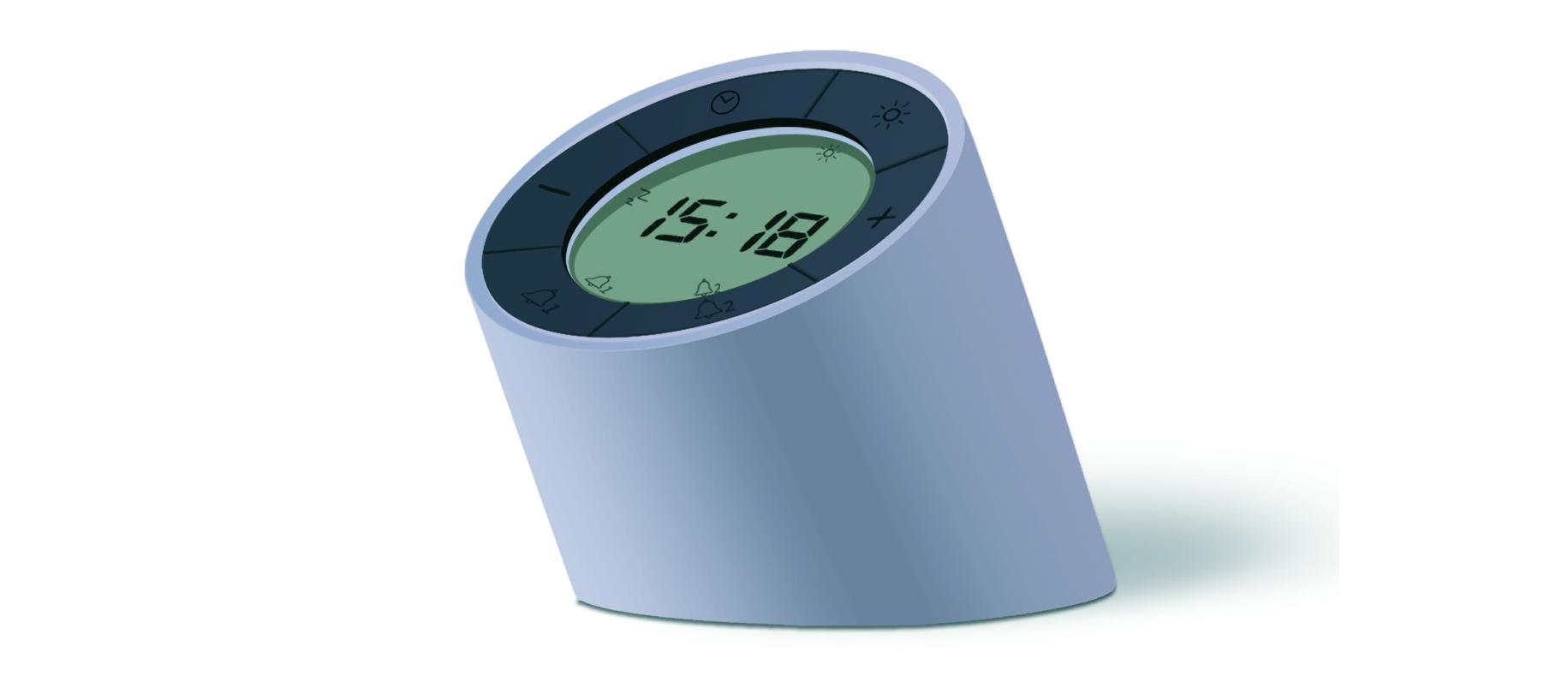 Ceas inteligent Edge Light Alarm Clock Grey