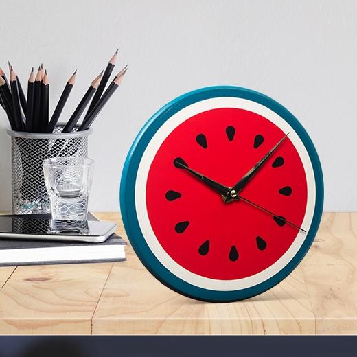 Ceas de birou Watermelon, Ø22 cm