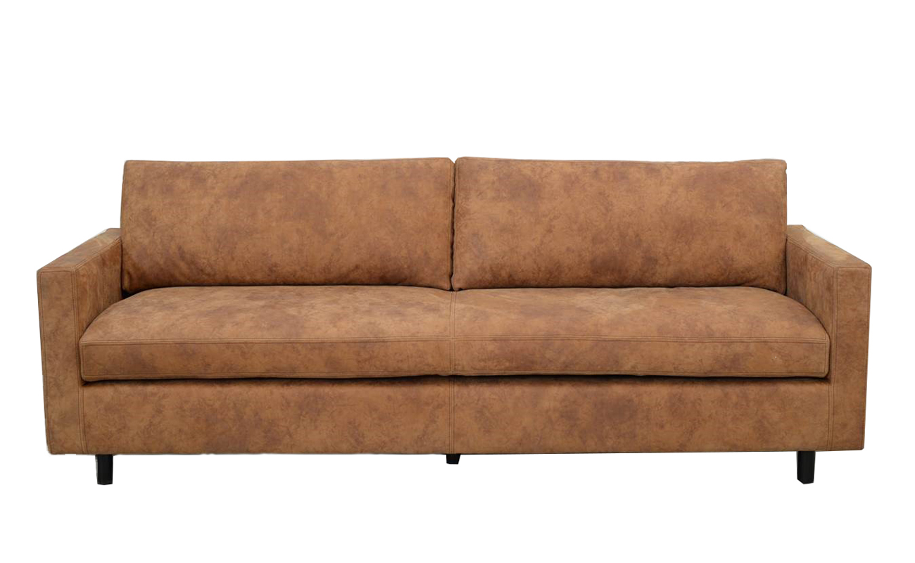 Canapea fixa 3 locuri Celeste Vintage Cognac imagine