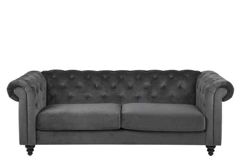 Canapea Fixa 3 locuri din stofa Charlietown Dark Grey imagine