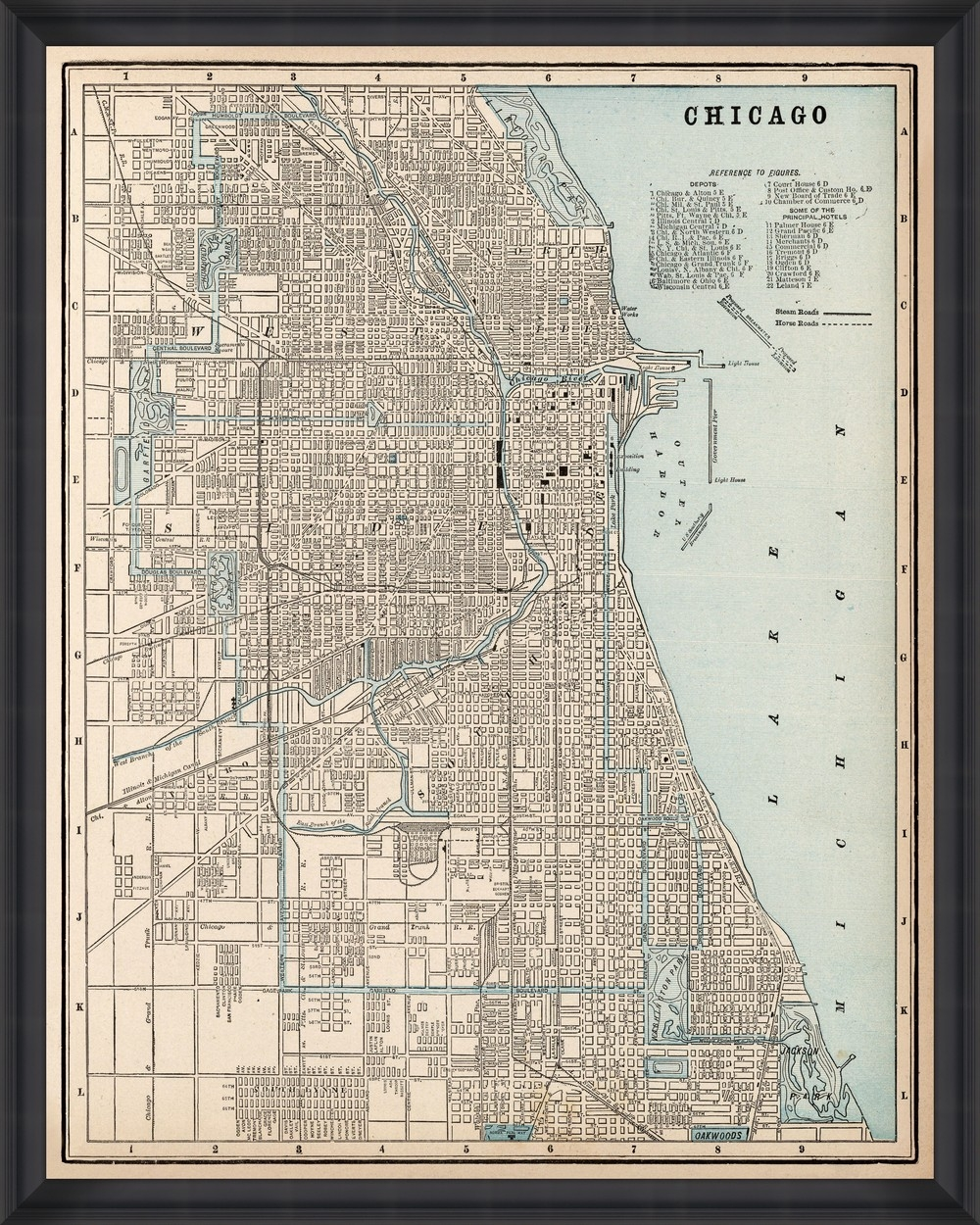 Tablou Framed Art Chicago Map