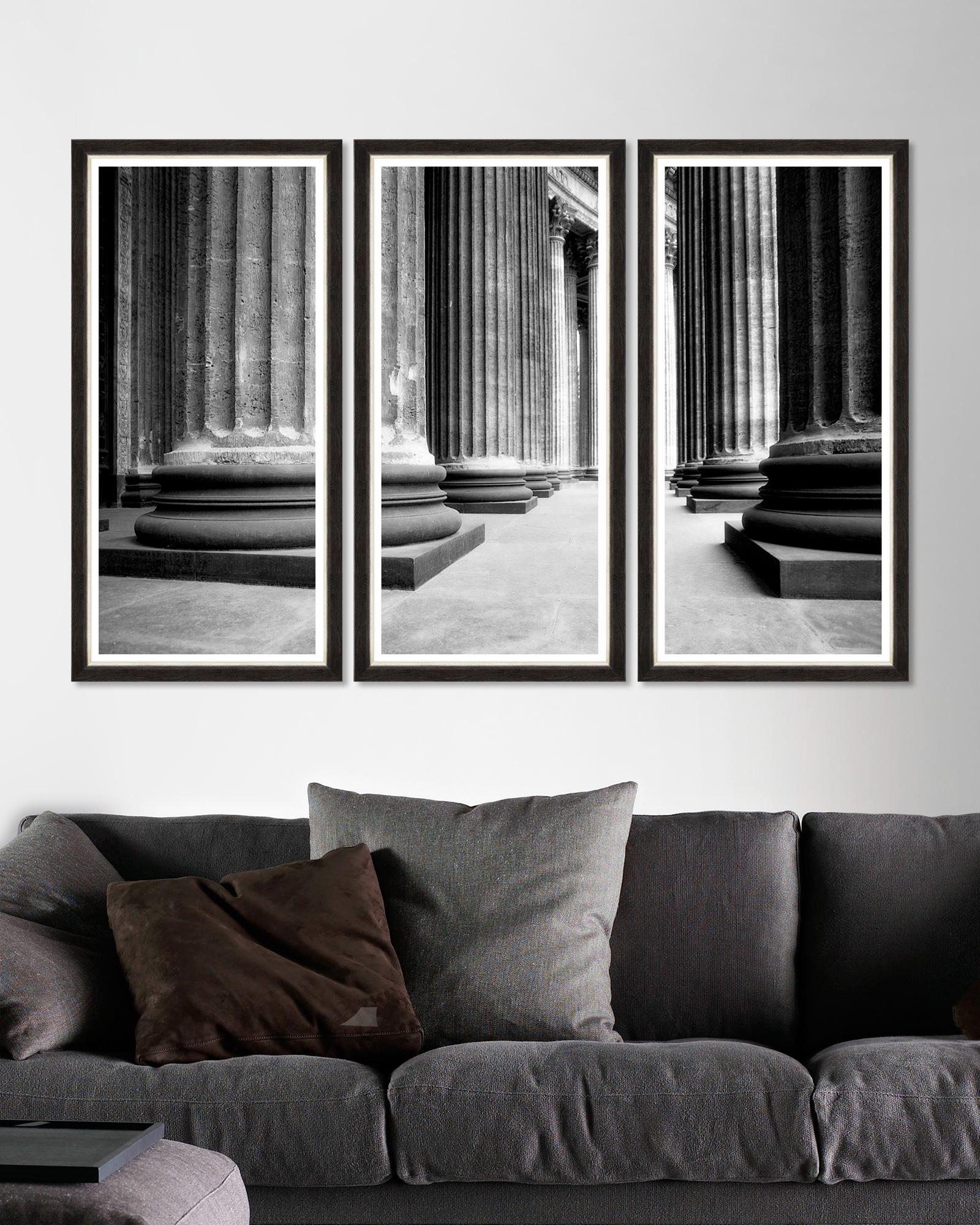 Tablou 3 piese Framed Art Church Colonnade Triptych imagine