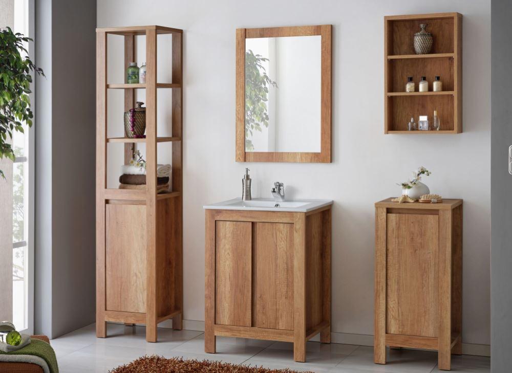 Set Mobilier pentru baie 6 piese Classic Oak