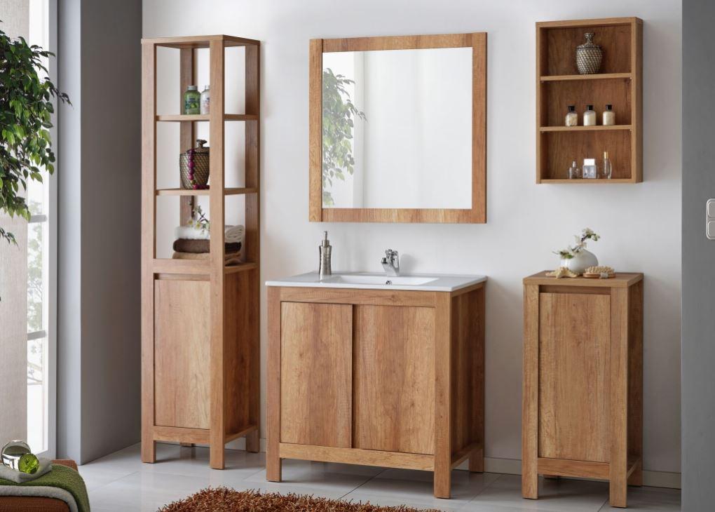 Set Mobilier pentru baie, 6 piese, Classic Oak XL imagine