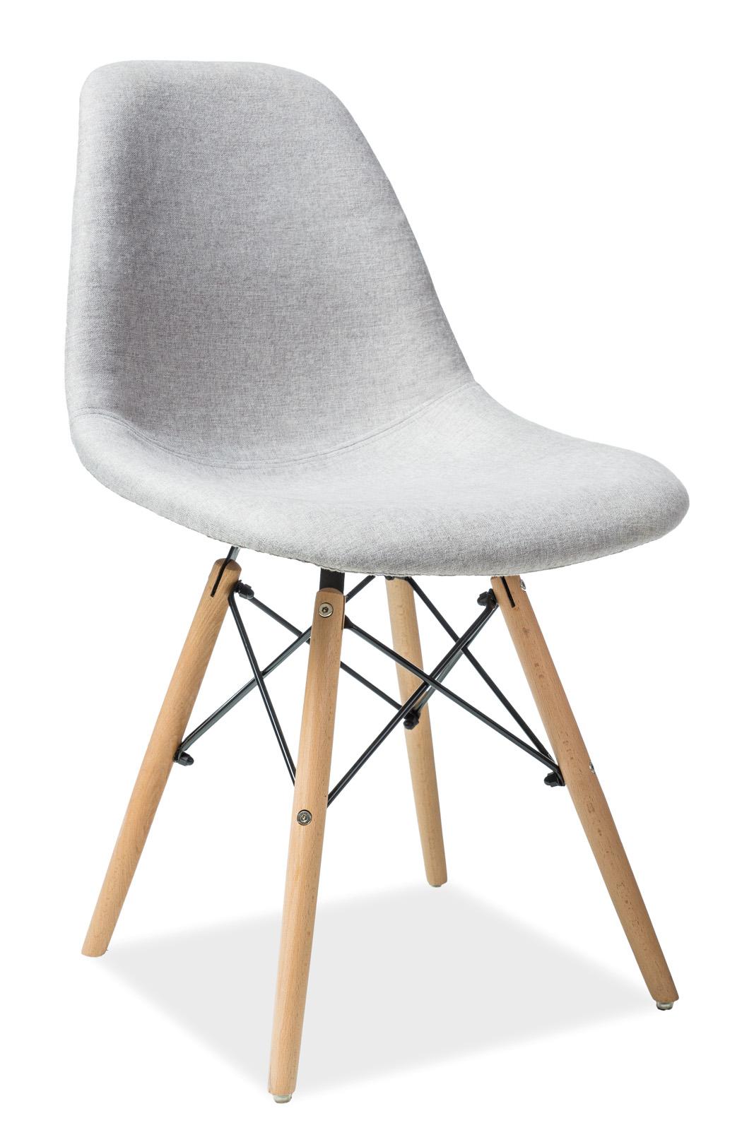 Scaun din lemn tapitat Coco Grey