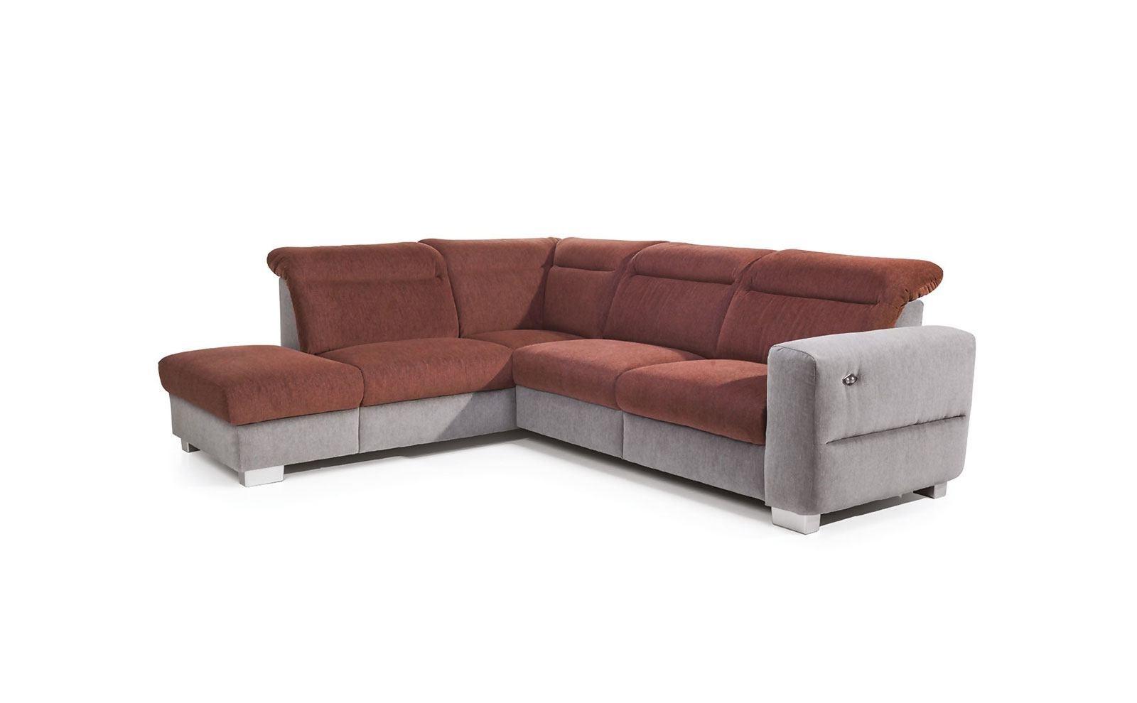 Coltar fix cu mecanism Relax, cu sezlong pe stanga Ferra, l270xA230xH90 cm