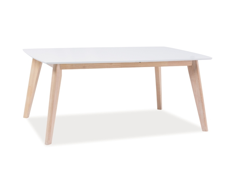 Masa de cafea din lemn si MDF Combo B Alb / Stejar, L110xl60xH50 cm
