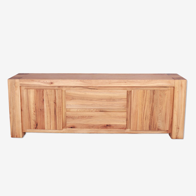 Comoda din lemn de stejar salbatic, cu 2 sertare si 2 usi Francisco, l230xA50xH80 cm