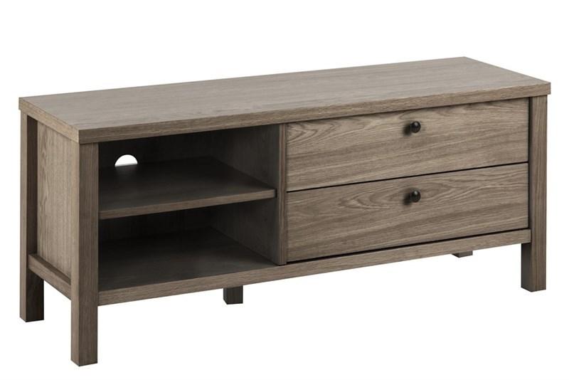 Comoda din lemn si furnir cu 2 sertare Brentwood Oak l120xA37xH50 cm