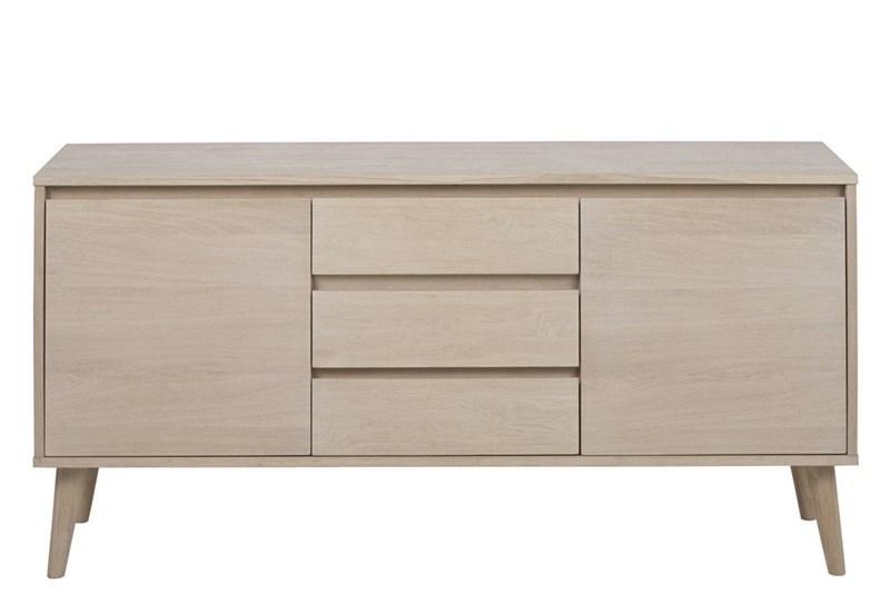 Comoda din lemn si furnir de stejar Nagano l150xA40xH75 cm