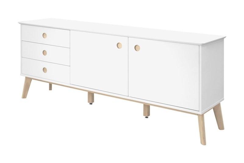 Comoda TV Century White l1799xA45xH75 cm