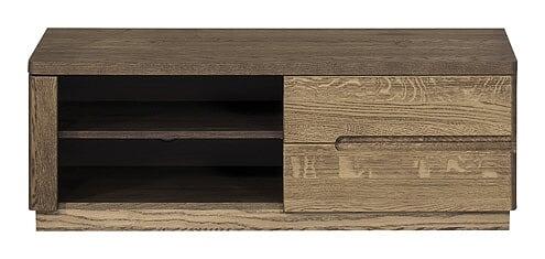 Comoda TV din lemn si furnir cu 1 usa Negro Small 24 Oak l108xA42xH38 cm