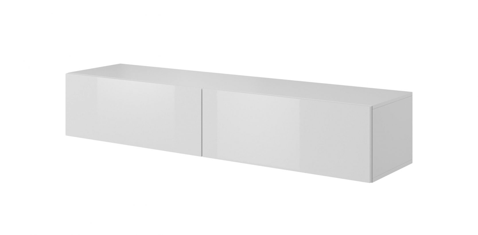 Comoda TV din MDF si pal, cu 2 usi Livo RTV-160W Alb, l160xA40xH30 cm