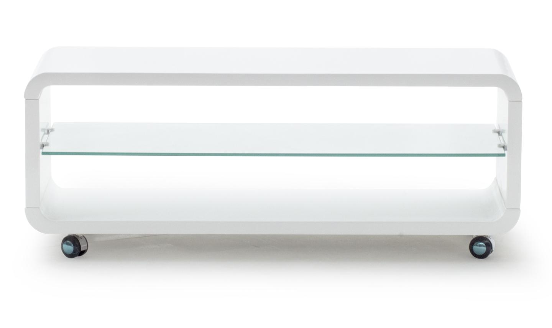 Comoda TV din MDF Sierra Large White l110x40xH43 cm