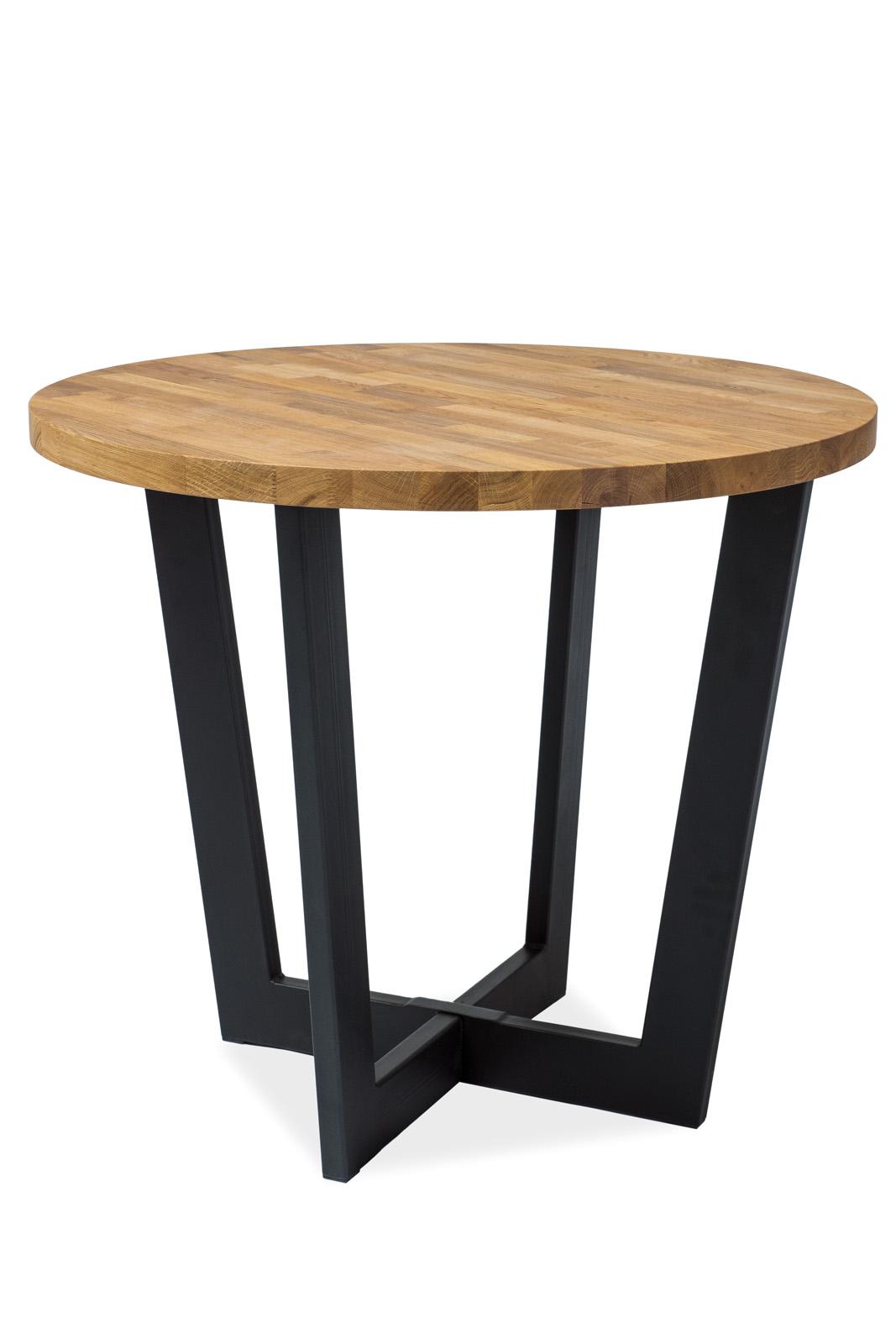 Masa din metal si lemn de stejar Cono Dab, Ø90xh78 cm imagine