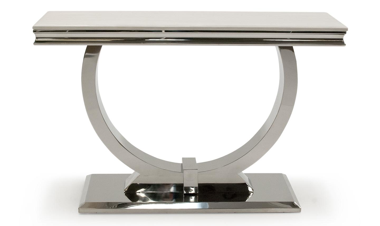 Consola Marmura Metal Crem Poza