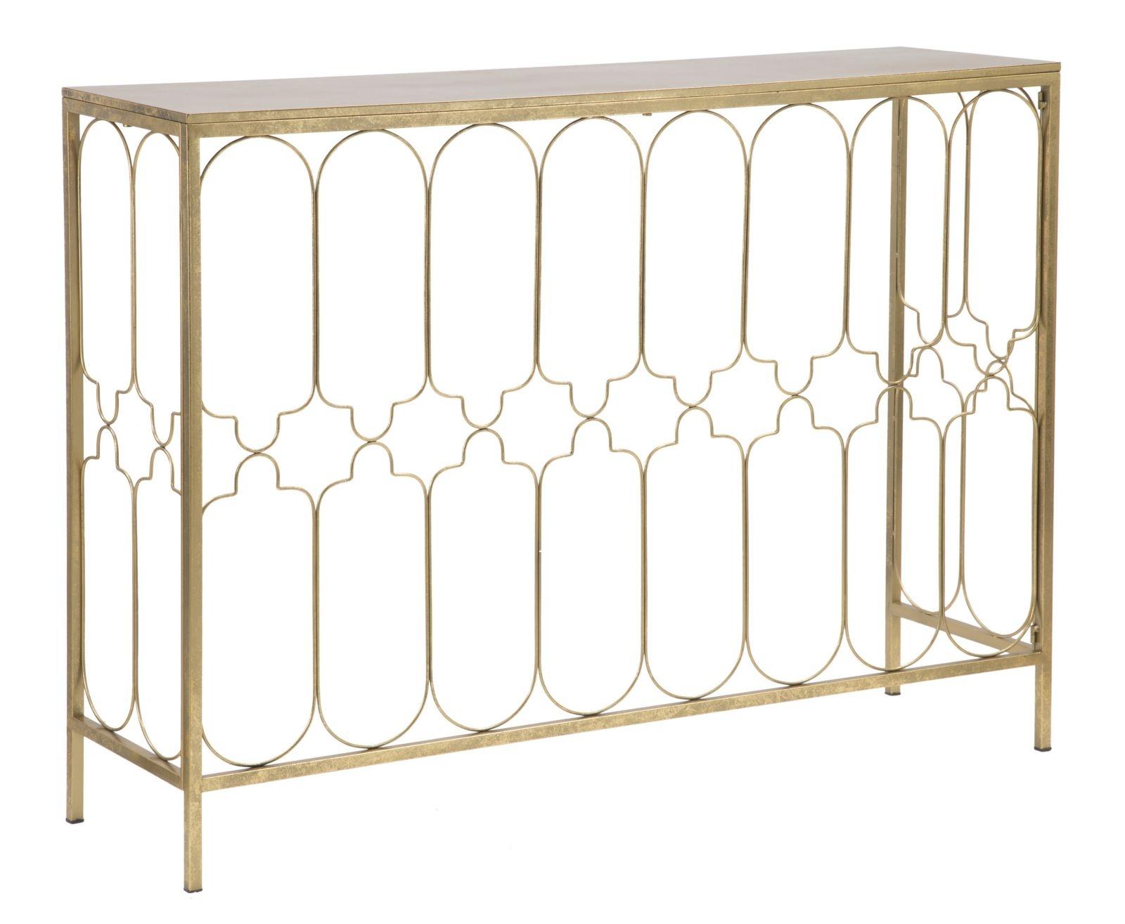 Consola din metal Balcony Gold, l112xA31xH81,25 cm