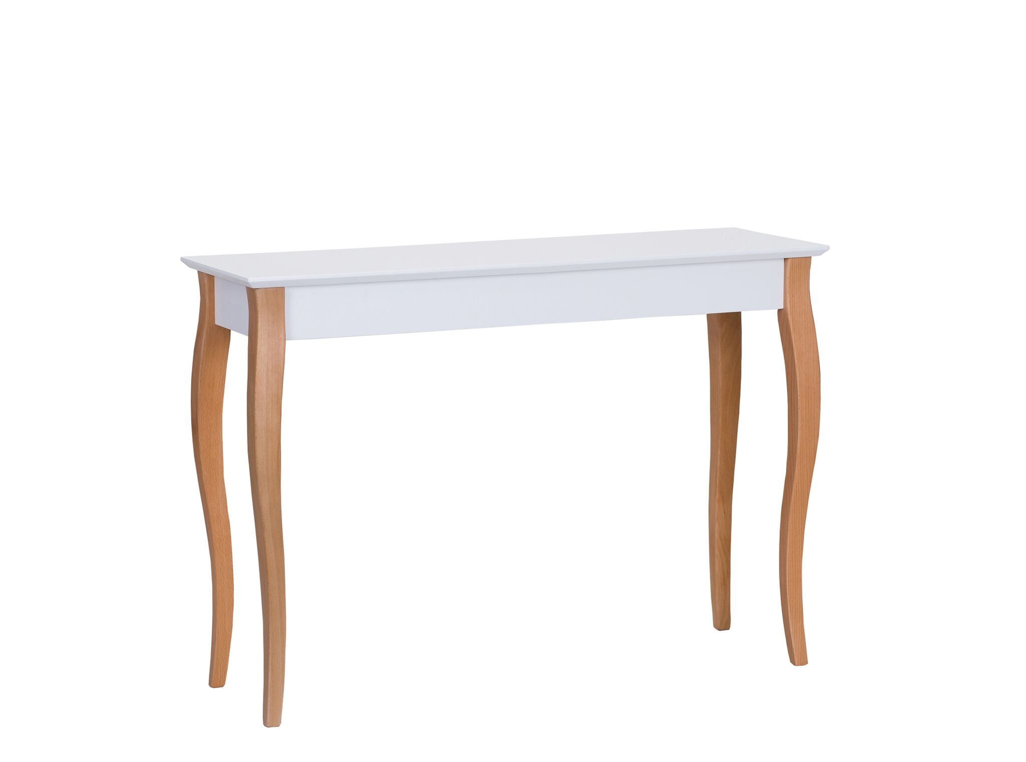 Consola din lemn de fag si MDF Lillo Large White l105xA35xH74 cm