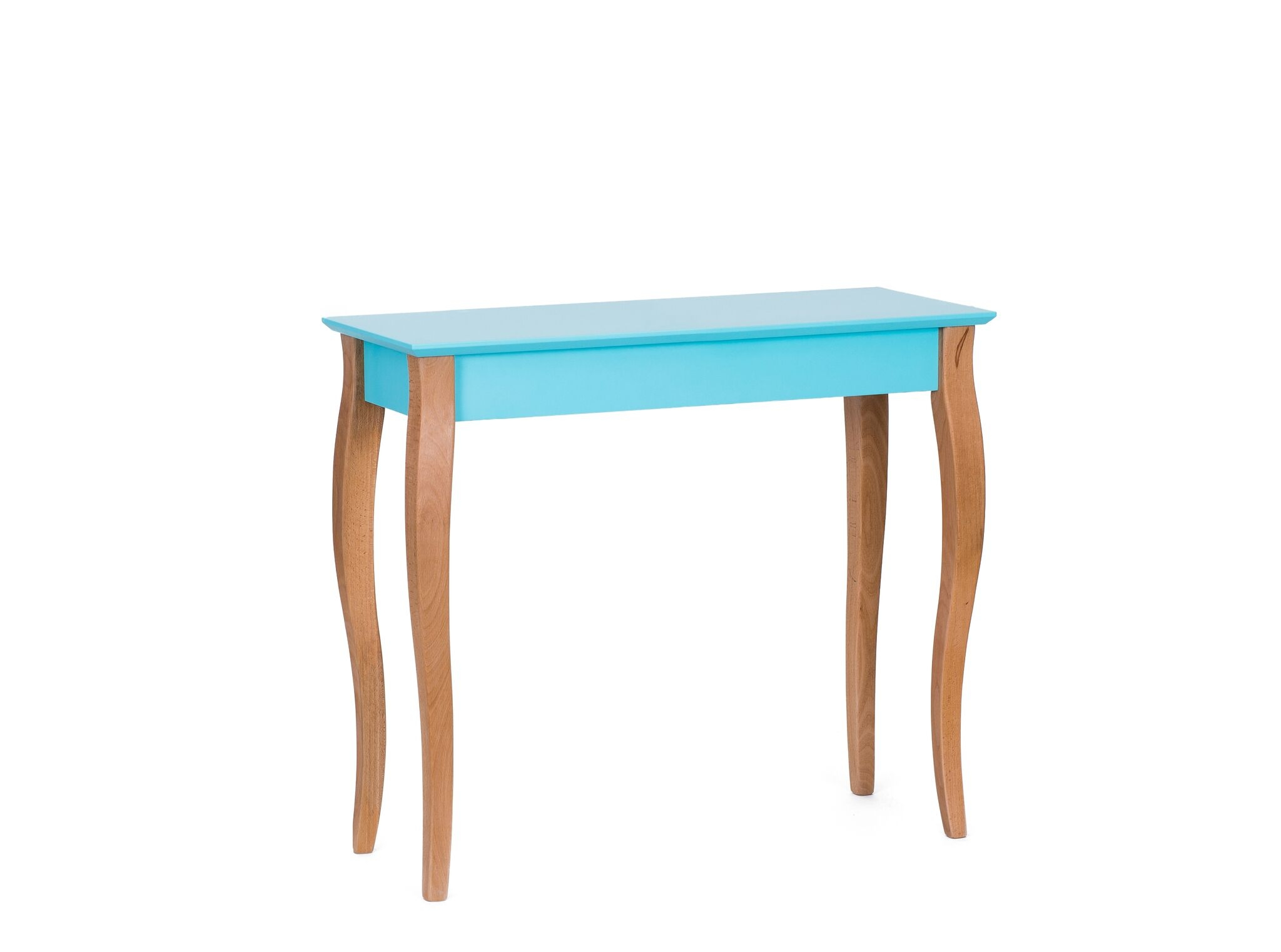 Consola din lemn de fag si MDF Lillo Medium Dark Turquoise l85xA35xH74 cm