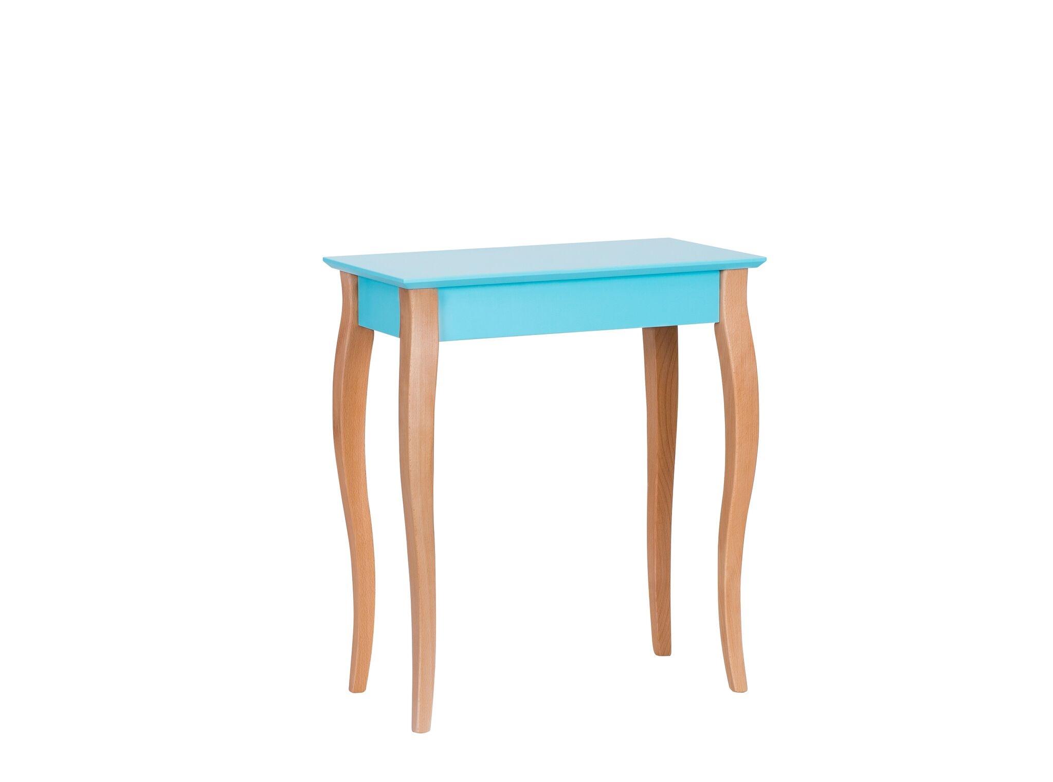Consola din lemn de fag si MDF Lillo Small Dark Turquoise l65xA35xH74 cm