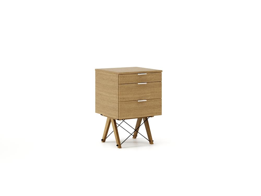 Dulap cu 3 sertare Luxury Oak Wood