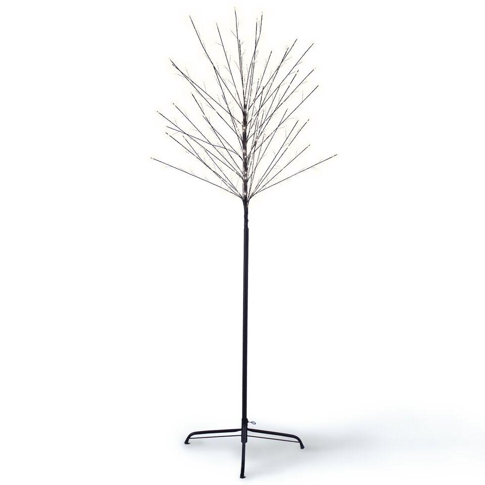 Copac decorativ cu 320 LED-uri Lucky White / Black H180 cm