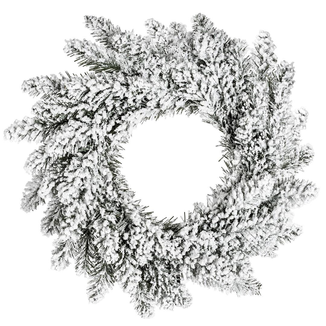 Coroana decorativa de Craciun Anne Alb / Verde, Ø50 cm imagine