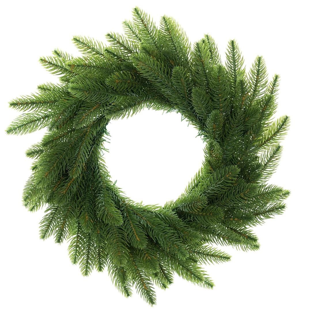 Coroana decorativa de Craciun Winter Time Verde, Ø50 cm imagine