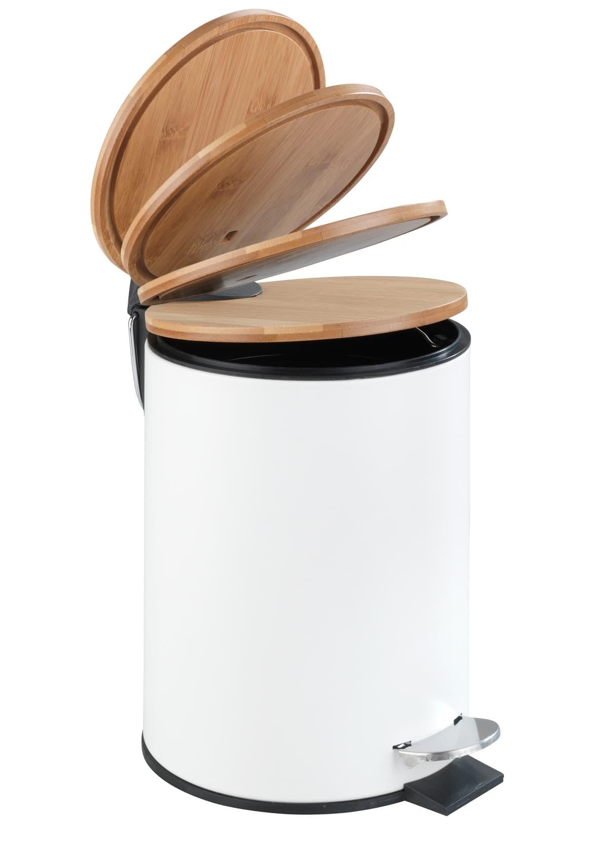 Cos de gunoi cu pedala Easy-Close, din otel inoxidabil, Torto Alb, 3L, Ø17xH23,5 cm imagine
