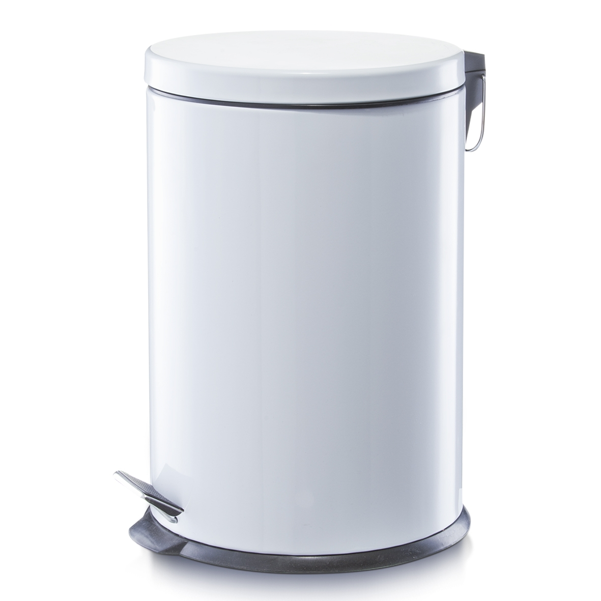 Cos de gunoi cu pedala, Metal White, 20L imagine