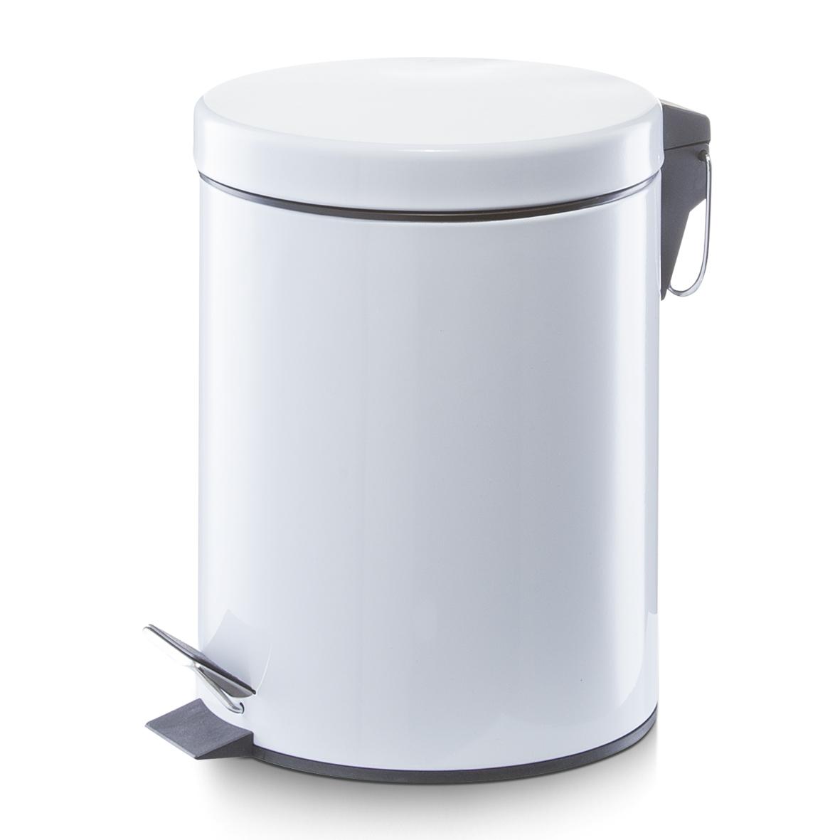 Cos de gunoi cu pedala, Metal White, 5L imagine