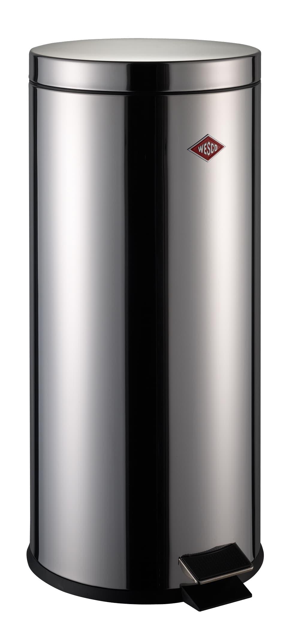 Cos de gunoi cu pedala, Tetra Bin Crom, 30L, Ø29,5xH67,5 cm imagine