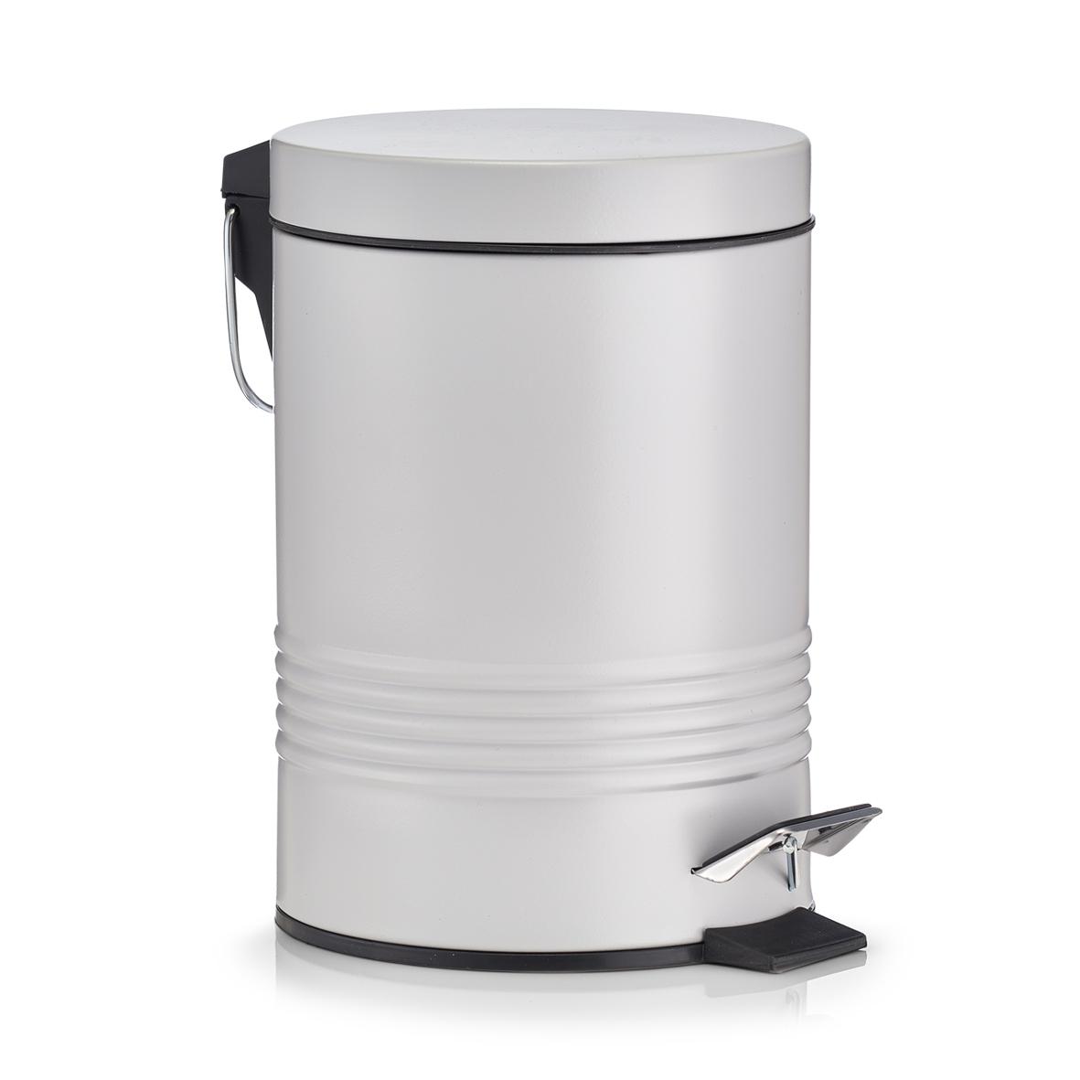 Cos de gunoi cu pedala pentru baie, Grey, 3L poza