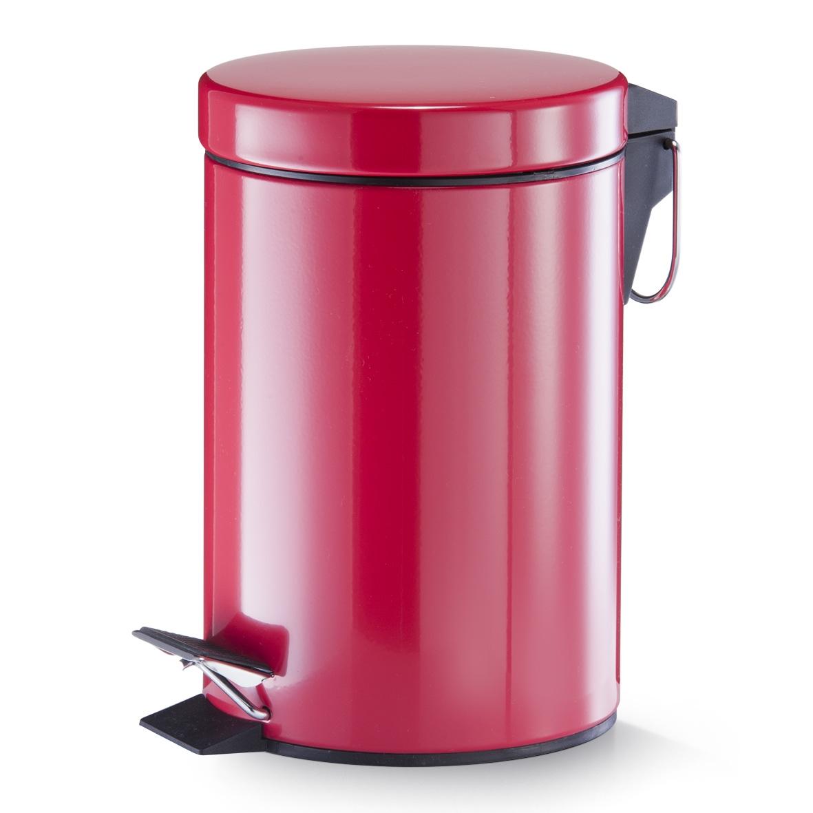Cos de gunoi cu pedala pentru baie, Metal, Colors, 3L imagine