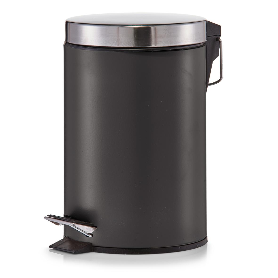 Cos de gunoi cu pedala pentru baie Metal Matte 3L